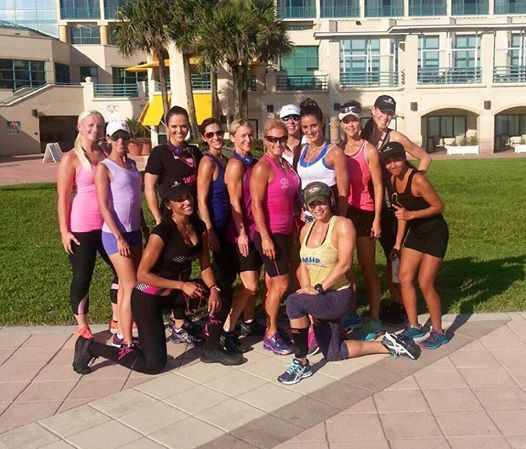 What a great way to start the morning! These Bombshell campers had a BLAST touring Daytona. Nice work, ladies!!!!  www.bombshellfitness.com