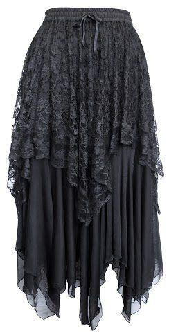 Dark Star Gothic Zig-Zag Hem Lace Net Layered Skirt DS/SK/5429 Womens Halloween Samhain Solstice Witch Fairy Festival Steampunk Goth Jordash, http://www.amazon.co.uk/dp/B008K3QJ18/ref=cm_sw_r_pi_dp_aKGmtb1P121NQ