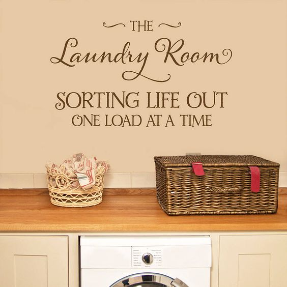 'laundry room' wall sticker quote by making statements | notonthehighstreet.com