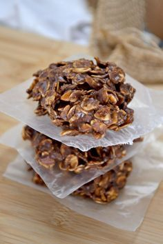 healthy chocolate peanutbutter no bake cookies - www.blueridgebabe.com