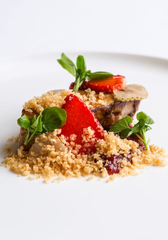 Roasted foie gras and strawberries by Russell Bateman