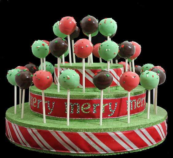 cute cake pop display using foam plant board