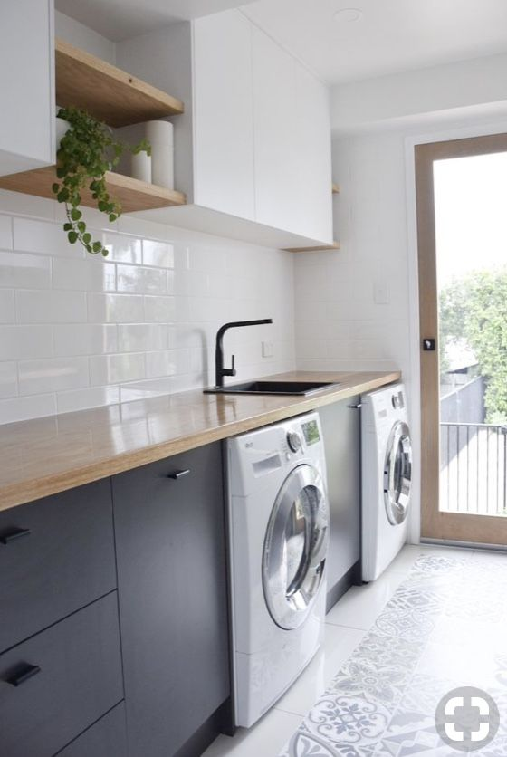 Walk Through Laundry Modern Laundry Rooms Laundry In Bathroom