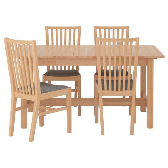 IKEA - NORDEN / NORRNÄS, Tisch und 4 Stühle,
