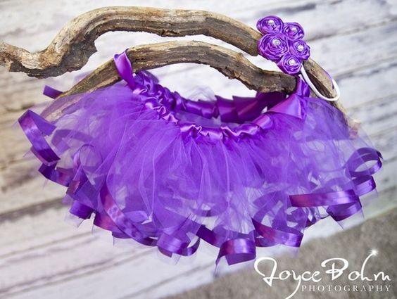 Satin Ribbon Edge Princess Tutu 3T  6 years Purple by petitepeanut, $40.00