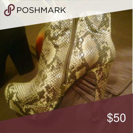 Boots Brown printed ankle boots Shoes