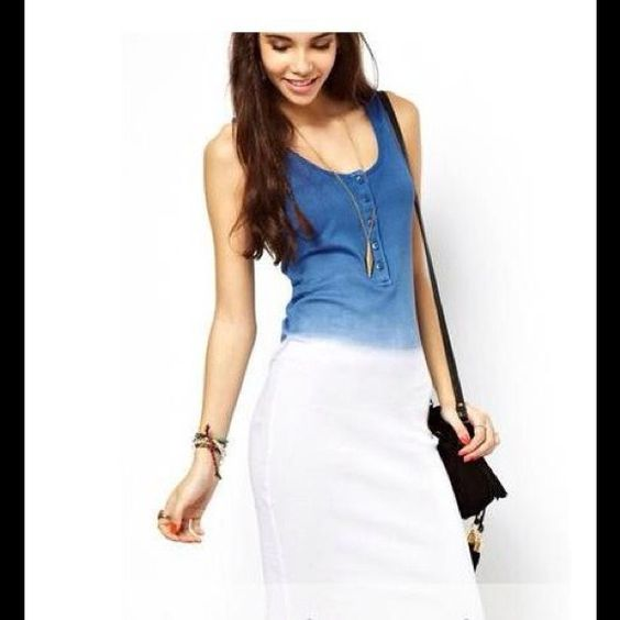 womens blue and white strappy dress - Pesquisa Google