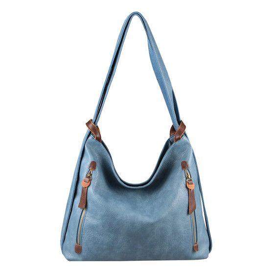 Obc Damen Tasche Rucksack 2 In 1 Umhangetasche Schultertasche Pb593 Lblue In 2020 Taschen Damen Schultertasche Rucksack Tasche