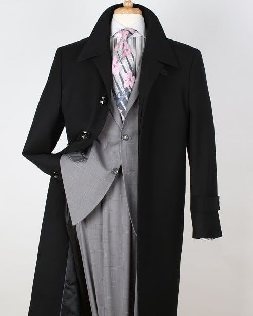 Just In Time For Winter Duster Style 100 Wool Gabardine Top Coat Duster Coat Fashion Mens Fashion Casual Outfits Mens Fashion Suits