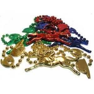 Derby necklace with jockey caps