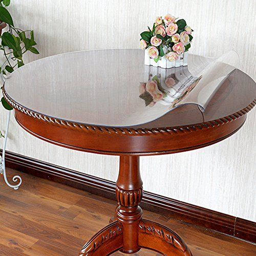Lovepads Custom Round 1 5mm Thick Clear Pvc Table Top Pro Https Www Amazon Com Dp B076szkg18 Ref Cm Sw R Dining Table Protection Round Table Covers Table