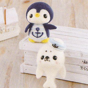 DIY Needle wool felt Penguin and Seal KIT Japanese craft kit
