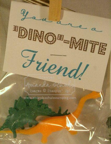 """Dino""-Mite Valentine with free printable"