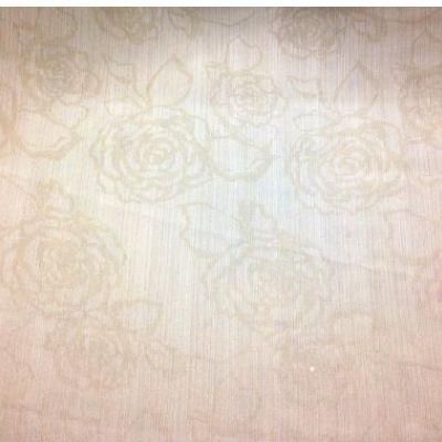 "Caramel roses - Silky satin fabric, 60"" wide"