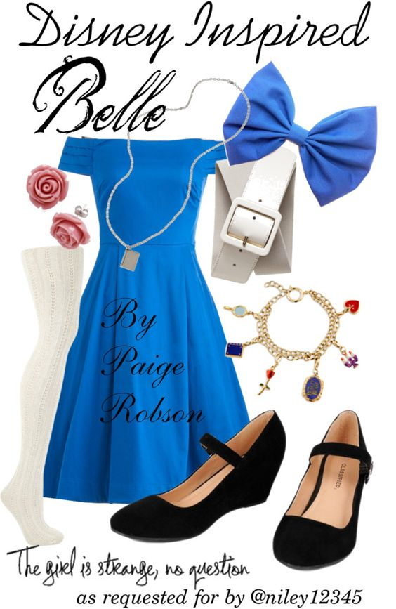 """Disney Inspired: Belle"" by paige-robson ❤ liked on Polyvore"