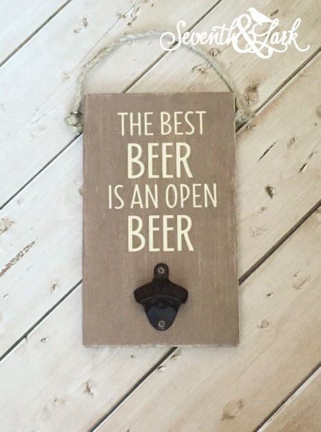 Wall Mounted Bottle Opener, Beer Opener, Bar Accessory, Man Cave, Drinking, Guy Gift, Gift for guys, Craft beer, Gift For Dad, Beer Sign