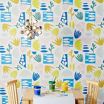 Kids Wallpaper Crate And Barrel Removable Wallpaper Chasing Paper Art Wall Kids