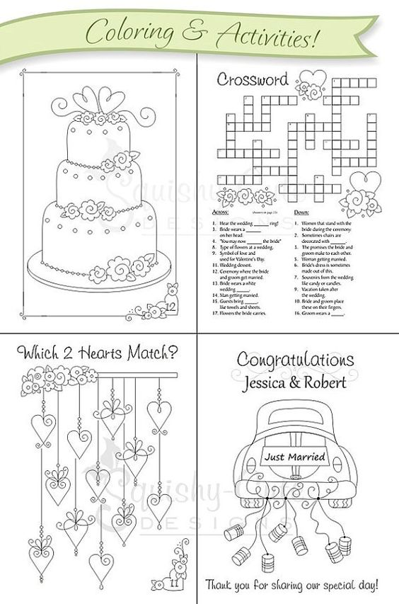Kids Wedding Favors Coloring Books And Wedding Favors On