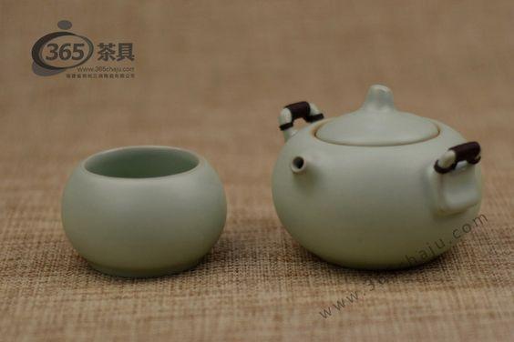 汝瓷快客杯-福禄-天青 - 快客杯茶具 - 365茶具