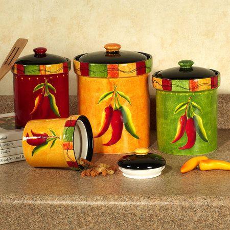 Caliente Southwest Kitchen Canister Set Kitchen