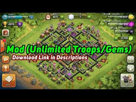 Clash Of Clans 11 651 10 Apk Mod Unlimited Troops Gems Android