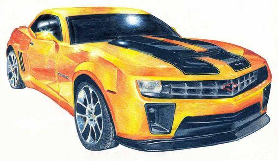 Modelo #Chevrolet camaro elegido por el abejorro para transformarse en auto.