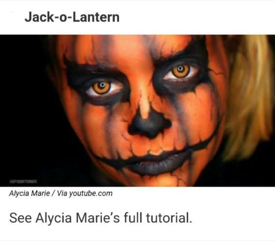 Jack-o-lantern - Halloween Makeup Tutorial