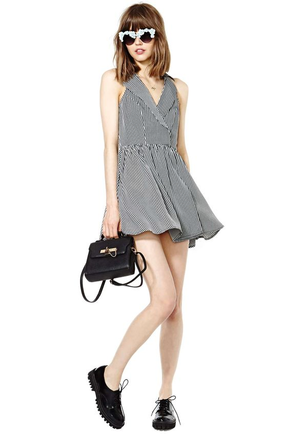 Nasty Gal Check Yourself Dress   Shop Sale at Nasty Gal