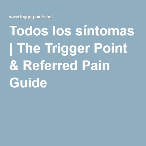 Todos los síntomas | The Trigger Point & Referred Pain Guide