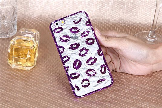 3D transparente Handyhülle mit sexy Lippen für iPhone 6/6 Plus - spitzekarte.com