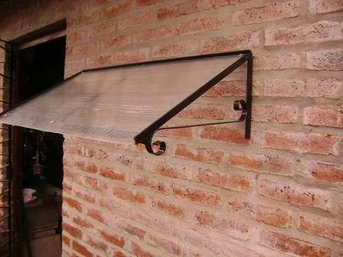 Alero hierro y policarbonato para puertas y ventanas for Como encielar un techo