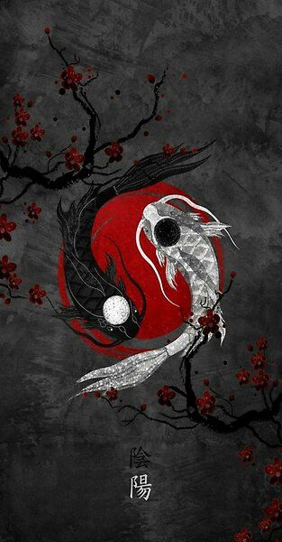 Ying Yang Fish Aesthetic By Bigsmoke22 Redbubble In 2021 Japanese Wallpaper Iphone Abstract Iphone Wallpaper Dark Wallpaper Iphone Yin yang wallpaper 4k celular