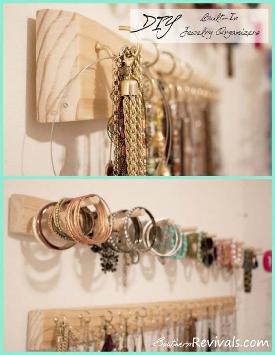 Do It Yourself Jewelry: DIY Built In Jewelry Organizer Tutorial. I NEED This