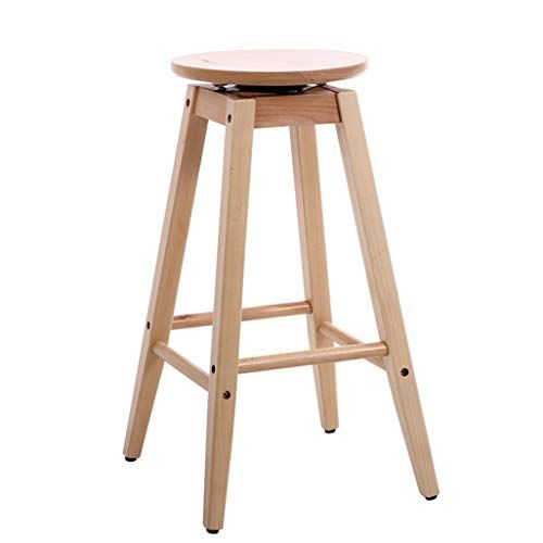 Lightyears Barstools Chair Footstool Rotating Wooden Seat Kitchen