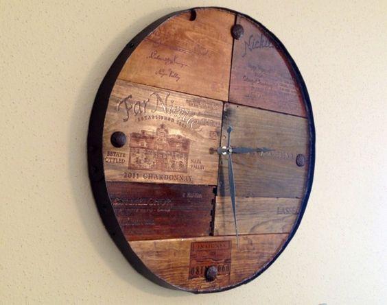 Exemple à look vieilli avec des planches de bois récupérées