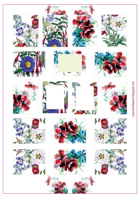 MeinLilaPark: Free printable floral planner stickers - ausdruckbare Etiketten - freebie