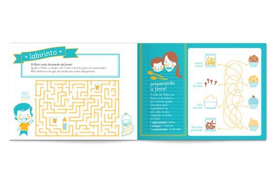 Aniversário do Pedro - livro de atividades by Laila Rodrigues, via Behance