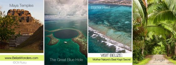 Only #Belize has these 4 elements in the entire #world #adventure #beach #maya #mayatemples #Jungle #reef #Nature #visitbelize