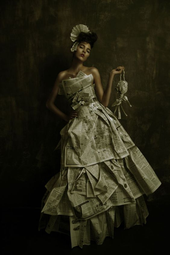 newspaper gown