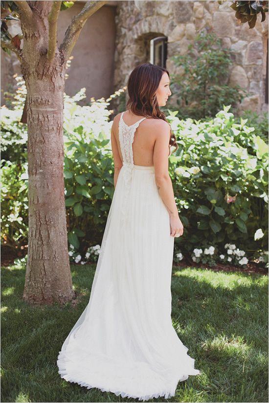 Woodsy Boho Chic Backyard Wedding - Boho chic wedding dress ...