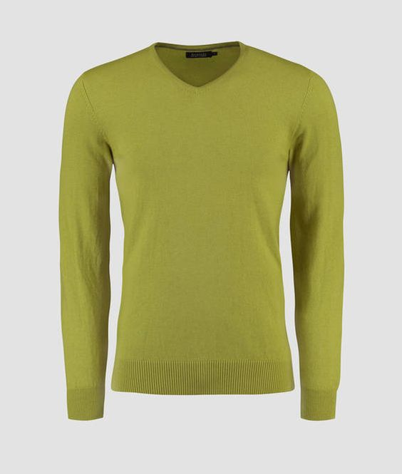 SWEATER COTTON CASHMERE GOLA V LISO - 0