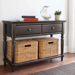 Console Table With Storage Baskets Sofa Table With Storage Storage Bench Seating Storage Cabinet With Baskets