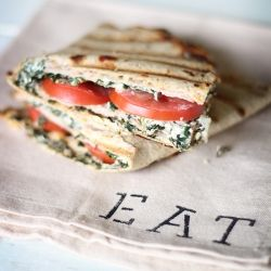 "Healthy Version of ""Panera's""  Grilled Turkey Artichoke Panini"