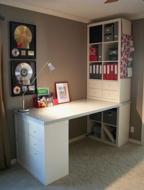 14 Ikea Hacks To Transform Your Bedroom Home Office Design Craft Room Office Ikea