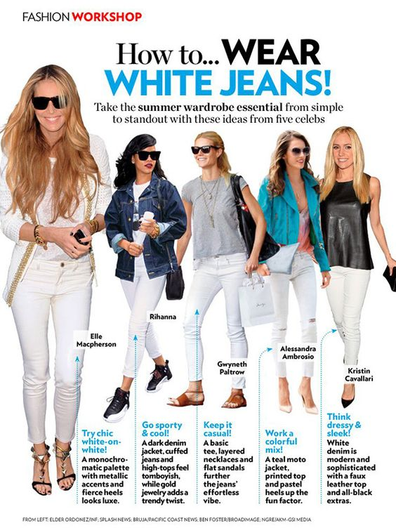 20 Style Tips On How To Wear White Jeans