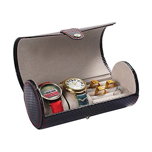 Cabinets & Cases Cylinder Watches & Rings & Sunglasses Holder Case ...