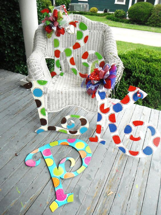 Great ideas for painting letters