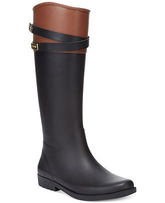 Tommy Hilfiger Women's Coree Tall Rain Boots - Winter & Rain Boots ...