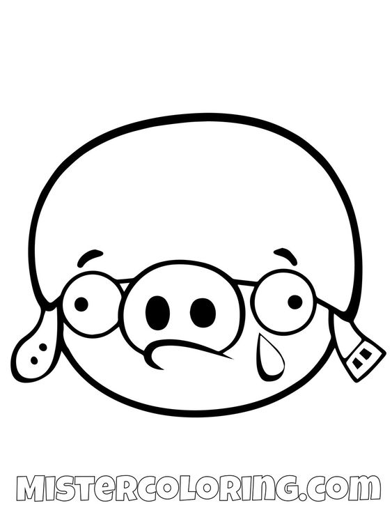 Russian Pig Crying Angry Birds Coloring Pages Bird Coloring Pages Angry Birds Pigs Coloring Pages