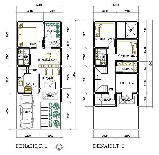 Denah Rumah Minimalis Type 36 2 Lantai | Projects to Try ...